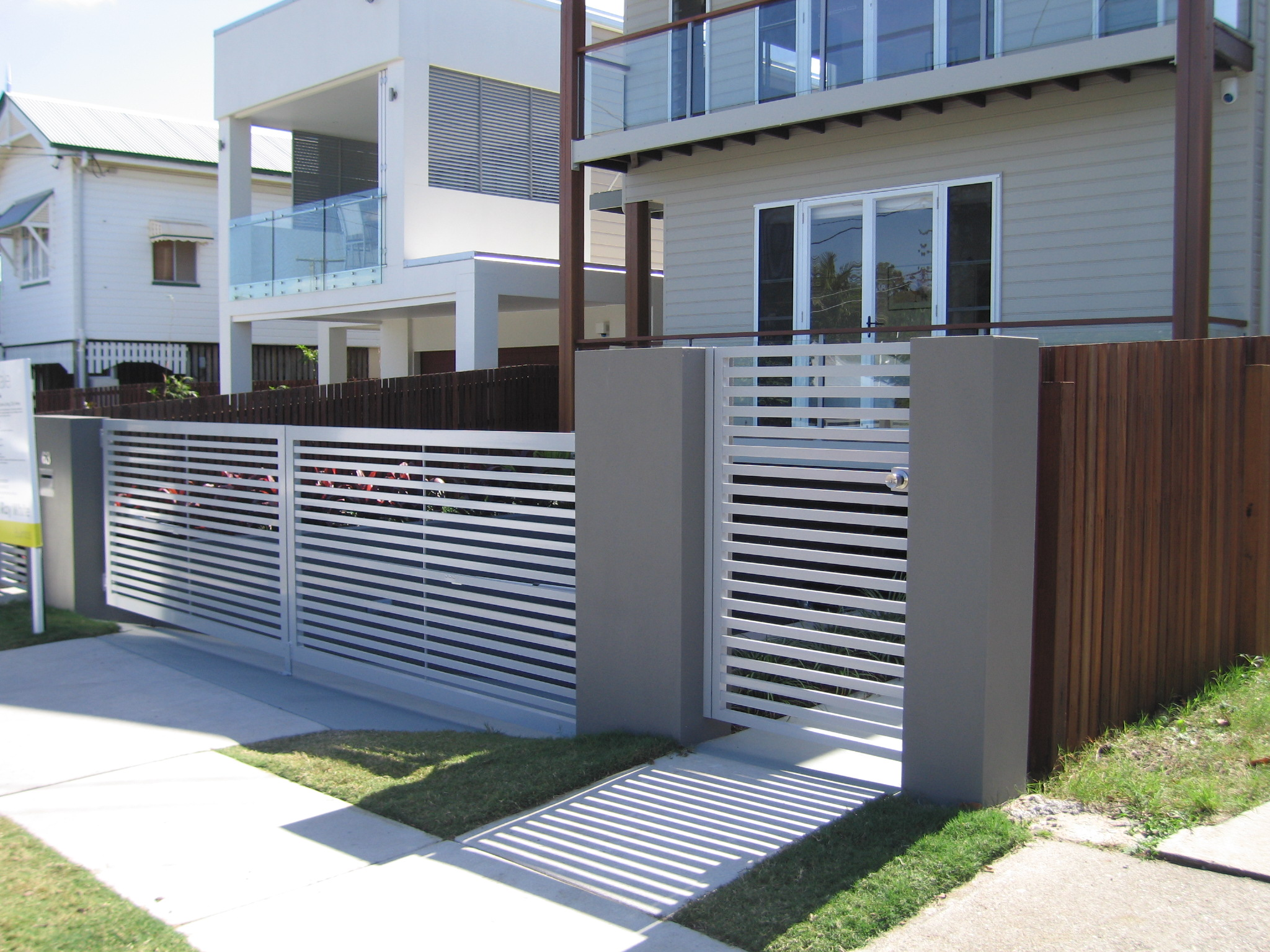 Front Gate Designs By Privacy Fencing Perth Quotes