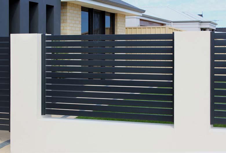 Slat Amp Louvered Fencing Smarter Fencing Sydney